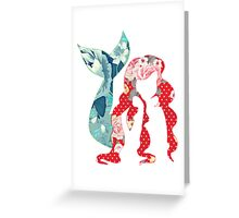 Floral Ariel Greeting Card