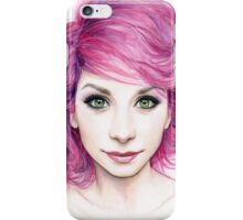 Beautiful Girl with Magenta Hair iPhone Case/Skin