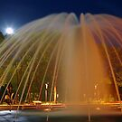 Fountain with Moon by Robert Meyer