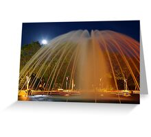 Fountain with Moon Greeting Card
