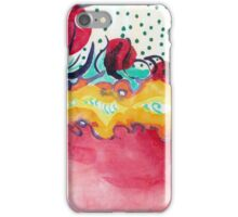 Caterpillar, abstract ink painting. iPhone Case/Skin