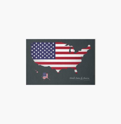 USA map special artwork style with flag illustration Art Board