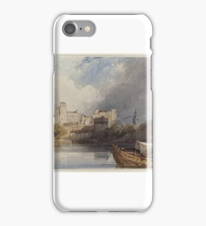 William Callow, R.W.S. (Greenwich  Great Missenden)  The Papal Palace at Avignon, iPhone Case/Skin