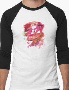 Ludwig van Beethoven Watercolor Remix  Men's Baseball ¾ T-Shirt