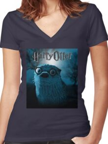 Harry Otter Women's Fitted V-Neck T-Shirt