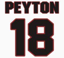 NFL Player Peyton Manning eighteen 18 by imsport