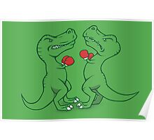 T-Rex Boxing Poster