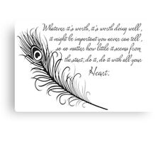 Inspirational Canvas Print