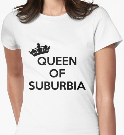 Tokio Hotel, Queen Of Suburbia (black font) Womens Fitted T-Shirt