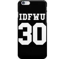 IDFWU Jersey iPhone Case/Skin