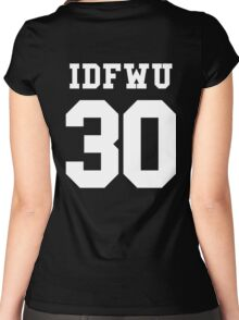 IDFWU Jersey Women's Fitted Scoop T-Shirt