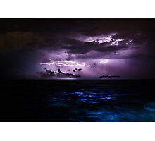 Ocean Lightning Photographic Print