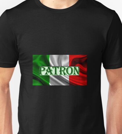 ITILIAN FLAG with the word PATRON Unisex T-Shirt