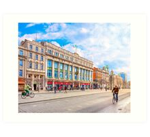 Beautiful Winter Morning On O'Connell Street In Dublin Ireland Art Print