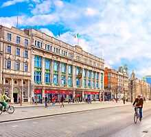 Beautiful Winter Morning On O'Connell Street In Dublin Ireland by Mark Tisdale