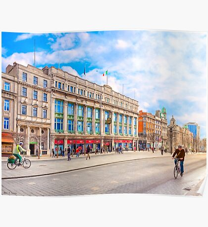 Beautiful Winter Morning On O'Connell Street In Dublin Ireland Poster