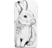 Bluebell the Fluffy White Bunny iPhone Case/Skin