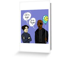 Motivational Fury and Hill Greeting Card