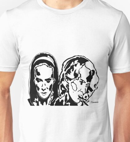 Twins American Horror Story Freak Show Black and White JTownsend Unisex T-Shirt
