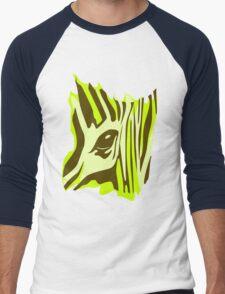 Wildlife Zebra Men's Baseball ¾ T-Shirt