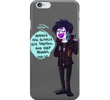 Vampires are very Spiritual beings, Per Se. iPhone Case/Skin