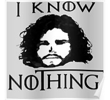 I KNOW NOTHING! Poster