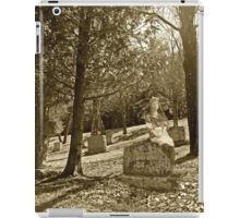 Girl on a Gravestone iPad Case/Skin