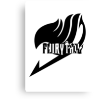 【2100+ views】Fairy Tail in Black Canvas Print