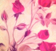Silky Red Roses 2 Sticker