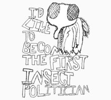 Insect Politician. (The Fly) One Piece - Short Sleeve