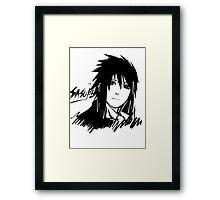 【5000+ views】NARUTO: Sasuke T-shirt in Black Framed Print