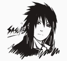 【5000+ views】NARUTO: Sasuke T-shirt in Black T-Shirt