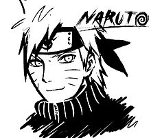 【3600+ views】NARUTO: Naruto T-shirt in Black by Ruo7in