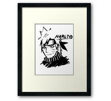 【3600+ views】NARUTO: Naruto T-shirt in Black Framed Print