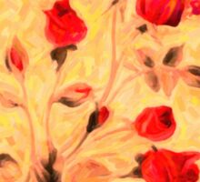 Silky Red Roses Sticker