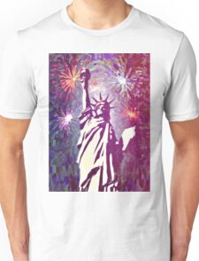 Statue Liberty 4th of July Fireworks 2a Unisex T-Shirt