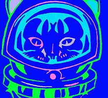 MULTI COLOR SPACE CAT SMARTPHONE CASE (Graffiti) by leethompson