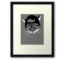 Weed Cat Framed Print