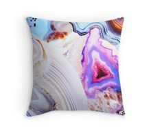 Agate Rocks, Slices of Earth Throw Pillow