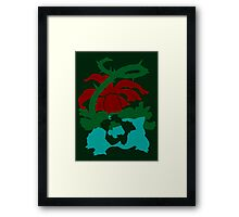 【8200+ views】Pokemon Bulbasaur>Ivysaur>Venusaur Framed Print