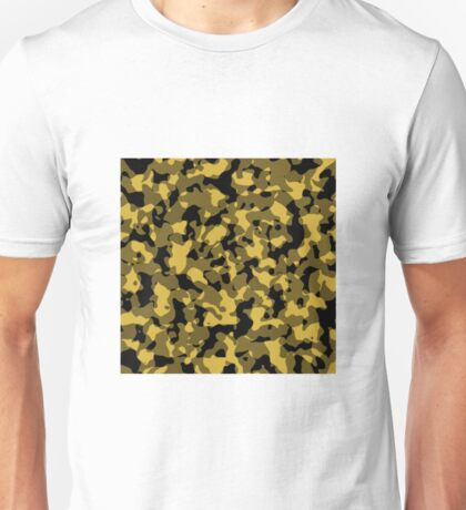 Camo - Gold | Black Unisex T-Shirt