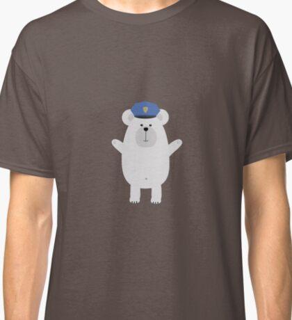 Happy Polar Bear Officer Classic T-Shirt