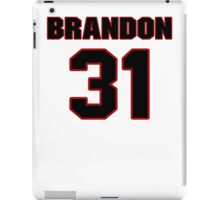 NFL Player Brandon Meriweather thirtyone 31 iPad Case/Skin