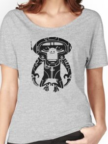 Black Space Monkeyz Graphic Women's Relaxed Fit T-Shirt
