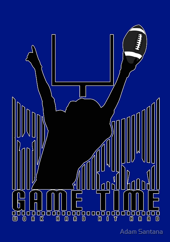 Game Time - Football (Blue) by Adamzworld