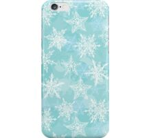 Seamless winter background with white snowflakes iPhone Case/Skin