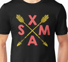 Golden Xmas Arrows Unisex T-Shirt