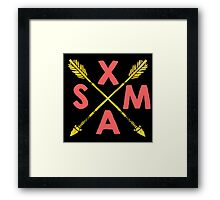 Golden Xmas Arrows Framed Print