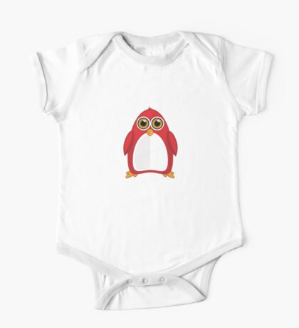 Red Penguin One Piece - Short Sleeve