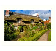 Country Cottage - North Yorkshire. Art Print